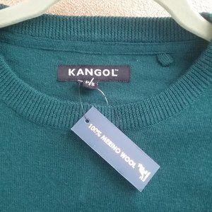 Kangol Men's Green Merino Wool Sweater - S. NWT